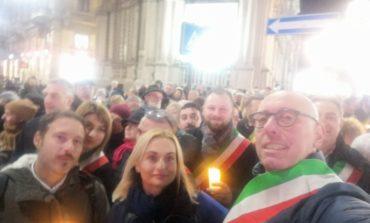 A Milano per sostenere la senatrice Liliana Segre, Trasimeno presente
