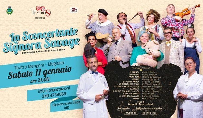 """Al teatro di Magione va in scena """"La Sconcertante Signora Savage"""""""