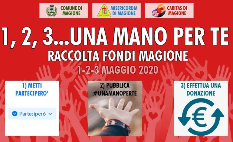 """Emergenza Covid: parte l'iniziativa di raccolta fondi """"1,2,3.. una mano per te"""""""