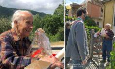 Aldo Serafini compie 100 anni, il sindaco Bardelli gli fa visita a casa