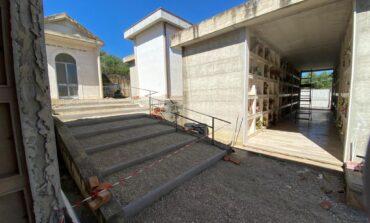 Accesso in sicurezza al cimitero di San Feliciano con la nuova gradinata