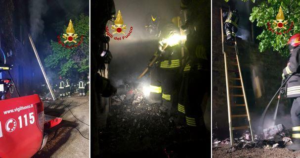 incendio pompieri trecine vigili del fuoco cronaca passignano