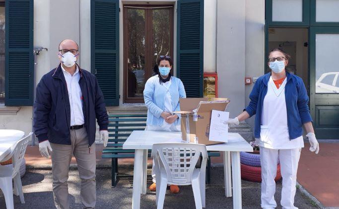Donati mascherine e guanti per l'ex-ospedaletto dal Rotary Club