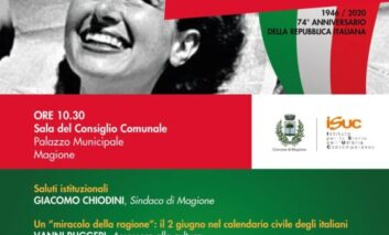 Il 2 giugno a Magione: iniziative on line per la Festa della Repubblica