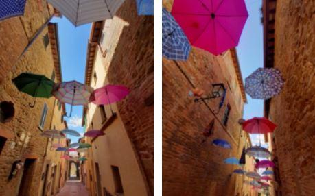 Paciano torna a rivestirsi di ombrelli colorati