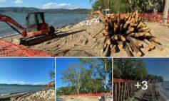"""Risanata la spiaggia Albaia a Monte del Lago, Chiodini: """"Progetto che riporta alla natura"""""""