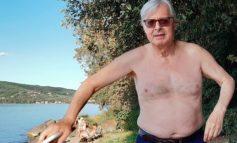 Vittorio Sgarbi a Isola Polvese: visita al Monastero di San Secondo e poi bagno rigenerante