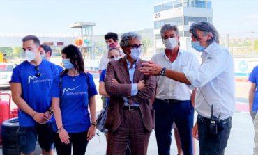 La Formula Student con il Rettore Oliviero nel paddock Audi Formula-E all'Autodromo dell'Umbria a Magione