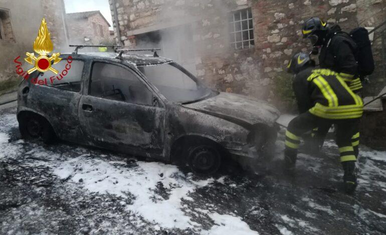 Auto a gas in fiamme: l'intervento dei pompieri scongiura il peggio