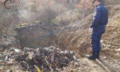 Scavano una buca nel bosco per smaltire rifiuti, intervengono i Carabinieri Forestali