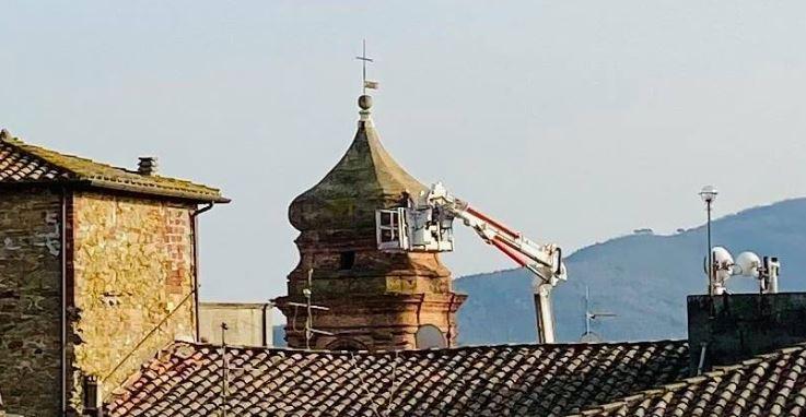 #magione campanile madonna pulizia cronaca magione