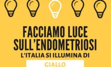 Prevenzione endometriosi, la Torre dei Lambardi si illumina di giallo