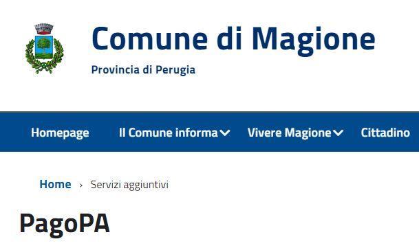 #magione pagare pagopa servizi economia magione
