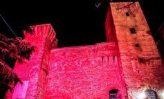 DCA: la Rocca di Città della Pieve illuminata di lilla