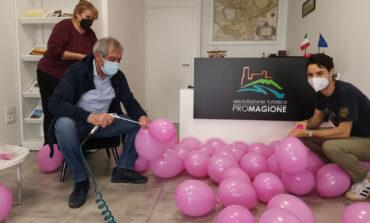La Torre dei Lambardi si tinge di rosa per il Giro d'Italia
