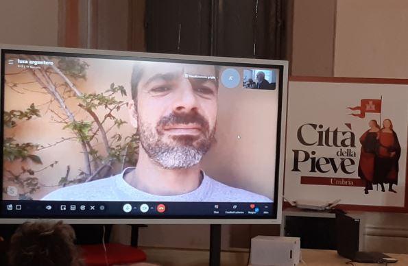Luca Argentero testimonial per la promozione di Città della Pieve