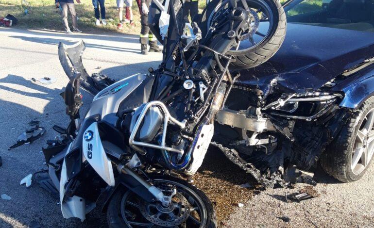 Incidente fra Taverne e Magione, ferito un motociclista