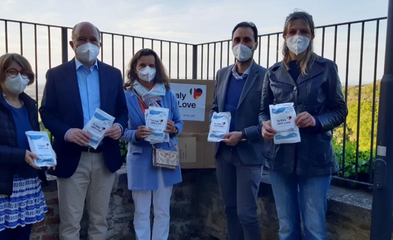 donazione mascherine unione dei comuni cronaca