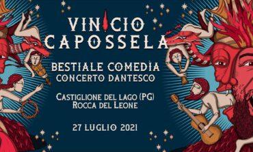 """Vinicio Capossela in un """"concerto dantesco"""" alla Rocca del Leone di Castiglione del Lago"""