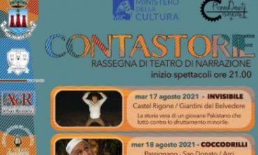 """""""Contastorie"""", dal 17 al 21 agosto cinque serate di teatro di narrazione"""
