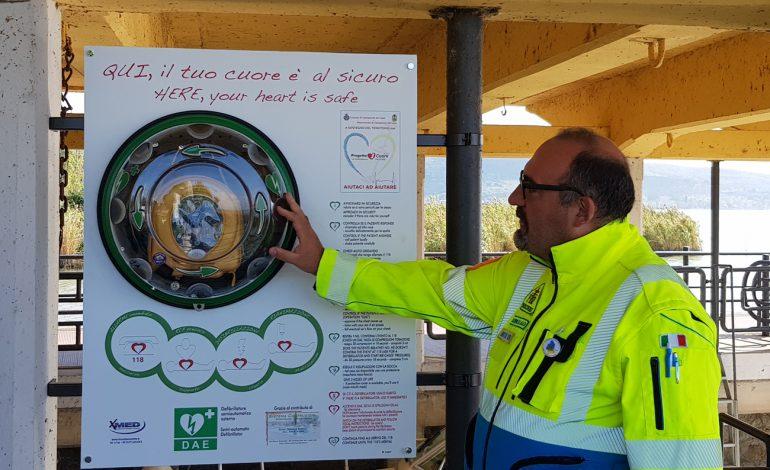 A Isola Polvese il Progetto Cuore: un defibrillatore per la vita