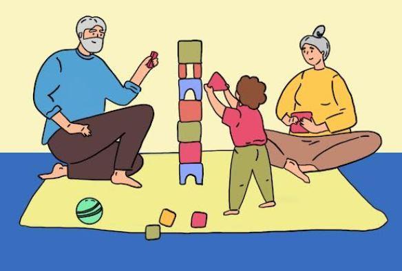 Nonni e bimbi insieme per costruire una comunità educante e solidale all'asilo nido Paperino