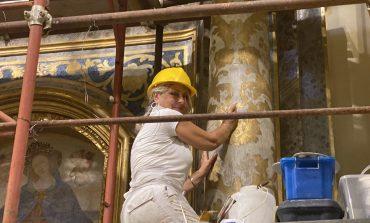 Santuario Madonna del Soccorso, restaurata la decorazione dell'altare