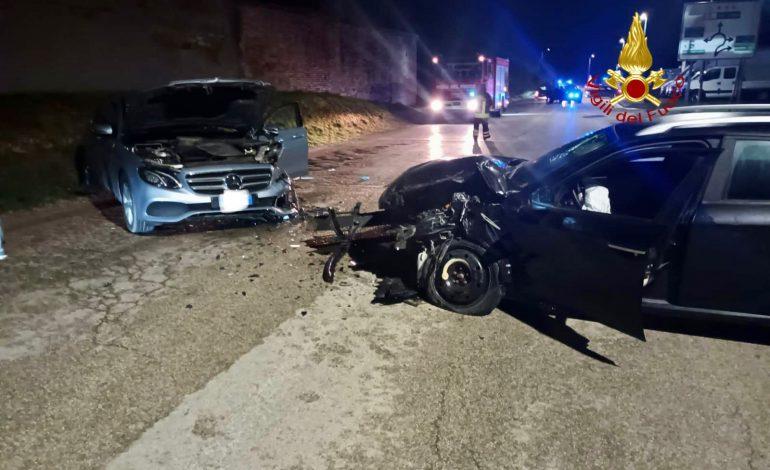 Incidente a Vitellino, due auto coinvolte